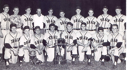 1958 Drain Black Sox Baseball Team