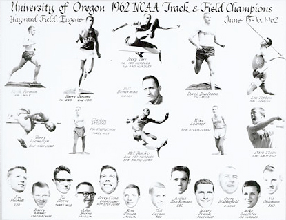 1962 University of Oregon Track and Field Team